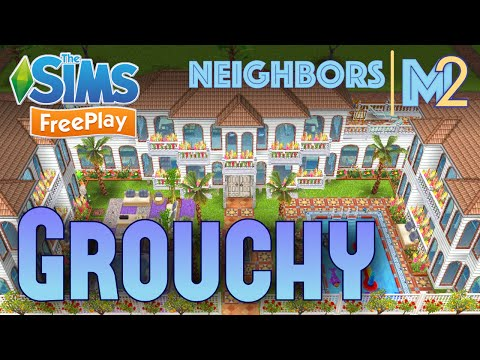 Sims FreePlay - Grouchy's 2nd House (Neighbor's Original Design)