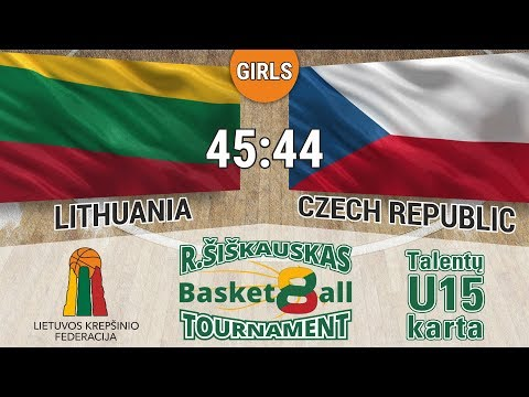 R. Šiškauskas Tournament 2017: Lithuania vs Czech Republic (Girls)