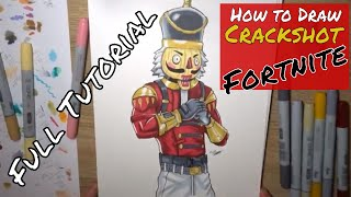 How to draw Crackshot - FORTNITE - Step by Step
