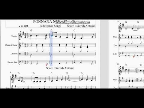 Ponnana Neram (Christmas Song)- Sheet Music by Suresh Antonio