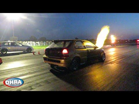 Humble Performance Build K27 EK civic - First test run - Big Flames