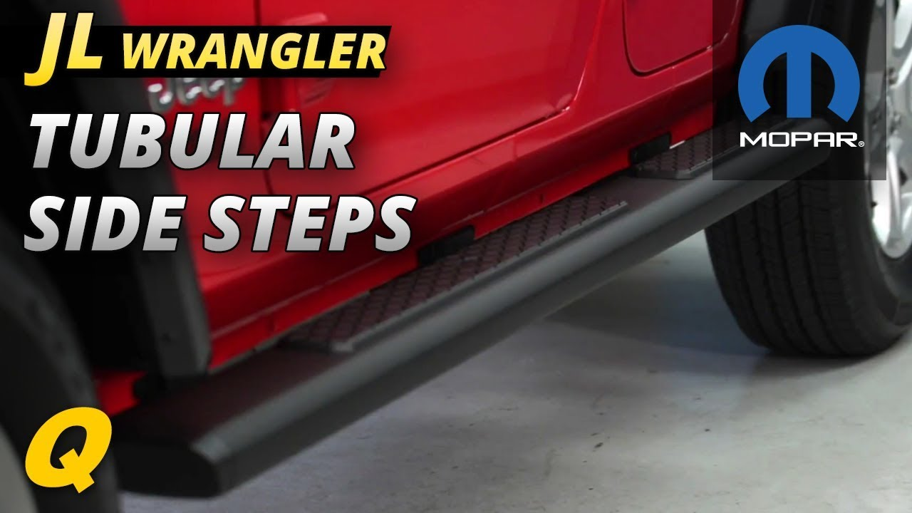 Mopar Tubular Side Steps Review For Jeep Wrangler Jl Youtube