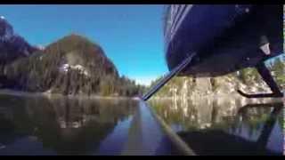 Катание по льду озера на вертолете