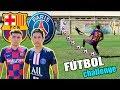 BARCELONA vs PSG ⚽️ ¡Retos de fútbol épicos! [Edson FDB]