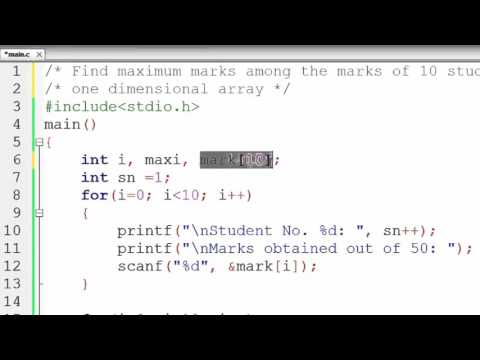 81. One Dimensional Array in C Programming (Hindi)