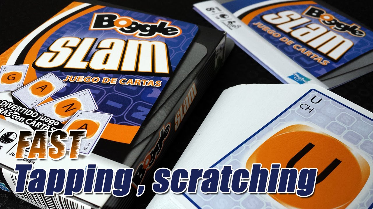 Asmr 40 Fast Tapping And Scratching Boggle Slam Card Game