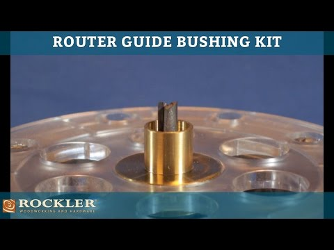 Rockler router guide bushing kit youtube for How to use router template guide bushings