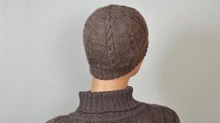 Мужская шапочка со сшивными клиньями на вязальной машине Нева-2. Часть 2.