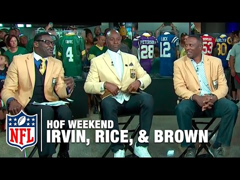 Michael Irvin, Jerry Rice, and Tim Brown 3rd and 5 Debate | 2016 Pro Football Hall of Fame | NFL