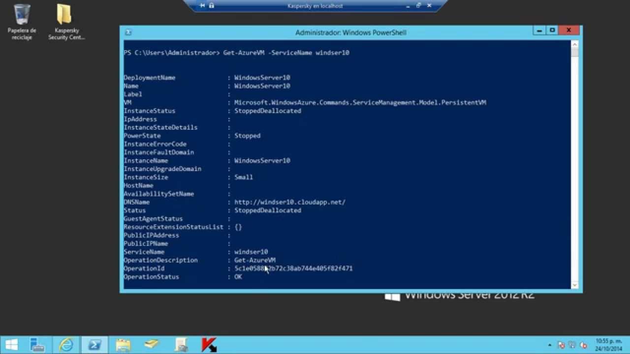 Microsoft Azure PowerShell - Get AzureVM