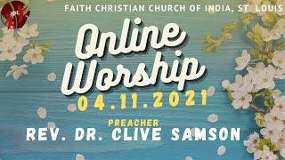 FCCIndia Live Worship 04/11/2021 | FCCI St. Louis
