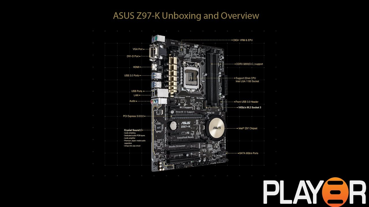 ASUS Z97-K Unboxing and Overview - YouTube