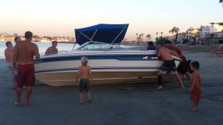 Beached boat peninsula