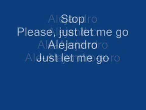 Lady Gaga - Alejandro (lyrics)
