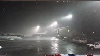 Severe thunderstorm over Nantucket