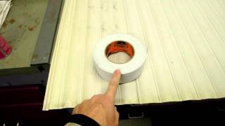 Plastic Storage Cabinet Tambour Door Repair Using Gorilla-brand Duct Tape
