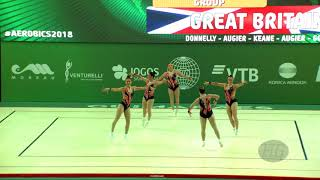 Great Britain (GBR) - 2018 Aerobic Worlds, Guimaraes (POR) - Group Qualifications