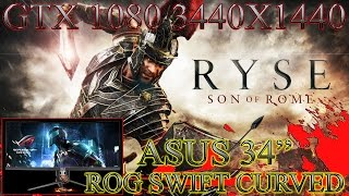 """RYSE SON OF ROME PC GAMEPLAY: 3440X1440 (GTX 1080/ASUS 34"""" ROG SWIFT CURVED)"""
