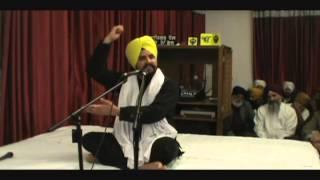 Bhai Sarbjit Singh Dhunda at Gurdwara Sahib Hayward California 1-17-2013