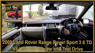 Virtual Video Test Drive in Our 2009 Land Rover Range Rover Sport 3 6 TD V8 HSE 5dr
