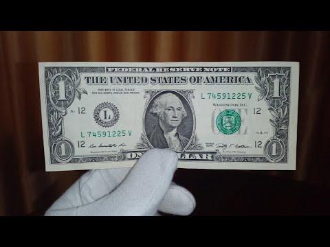 Банкнота 1 доллар США