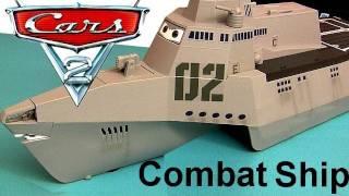 Cars 2 Combat Ship Playset with 3 Diecast Cars Tony Trihull Lights Sounds Diecast Disney Pixar toys