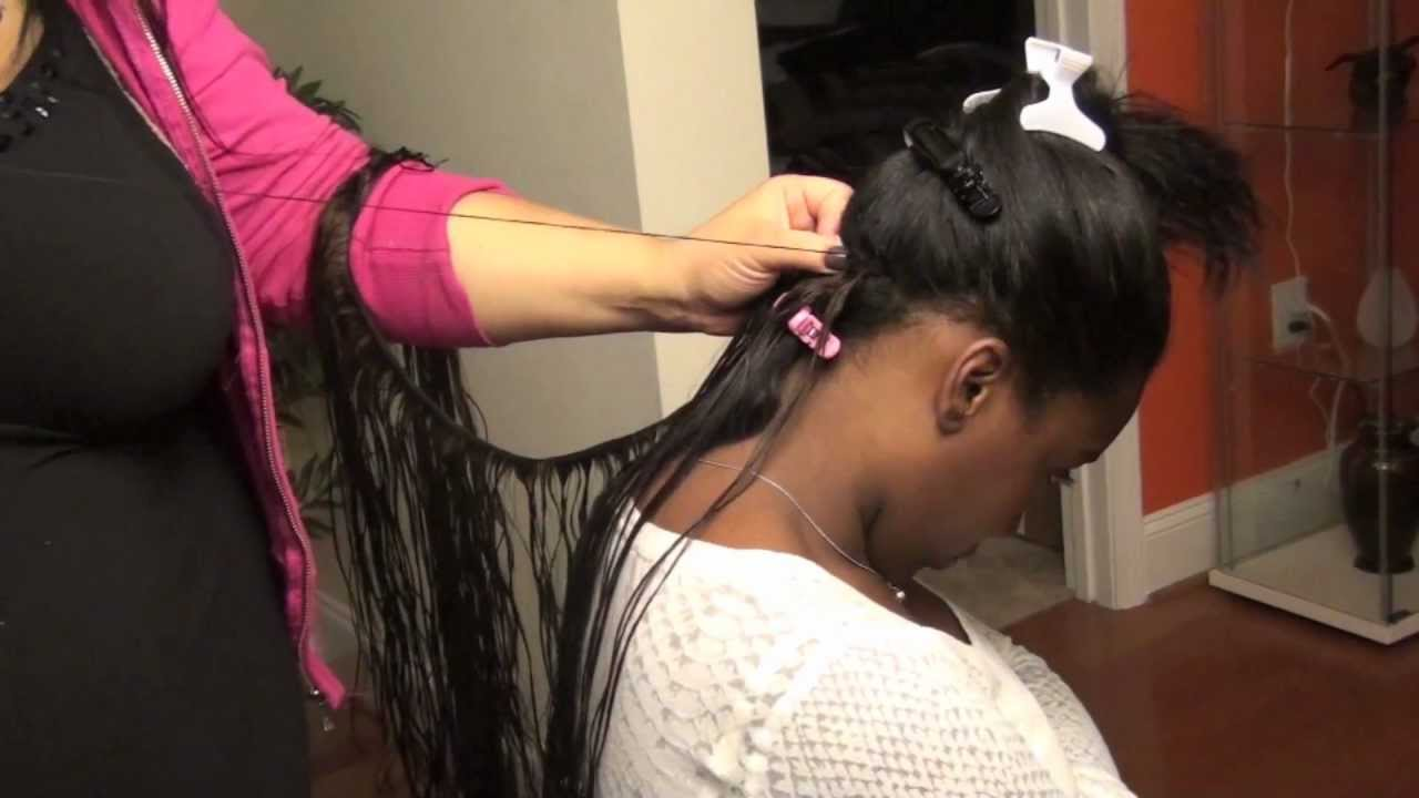 Sew In Atlanta 18 Quot Indian Tracks With L10 Hair Youtube