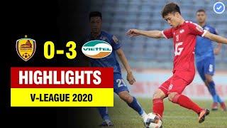 Highlights Quảng Nam 0-3 Viettel | Hoàng Đức lập siêu phẩm như Roberto Carlos | V-league 2020