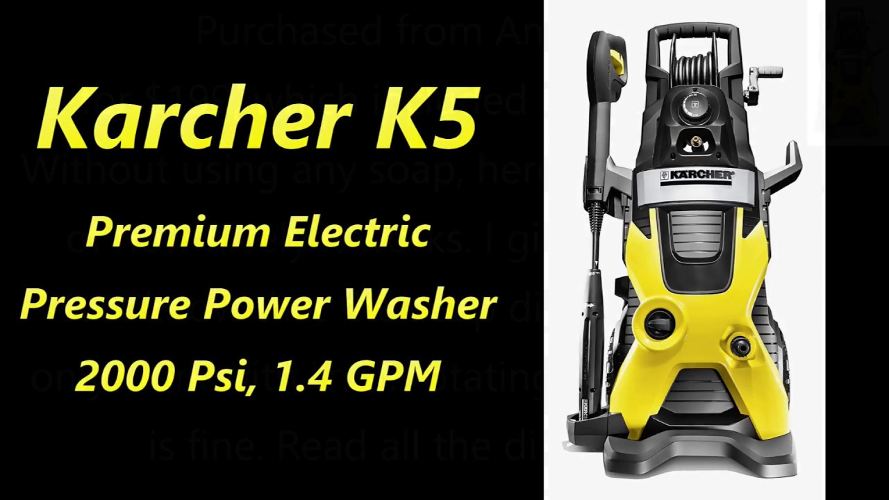 Review Karcher K5 Premium Electric Pressure Power Washer