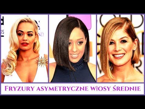 Fryzury Asymetryczne Włosy średnie Youtube