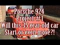 Porsche 924 Project - Part 1 a closer look at the car...will it even start?