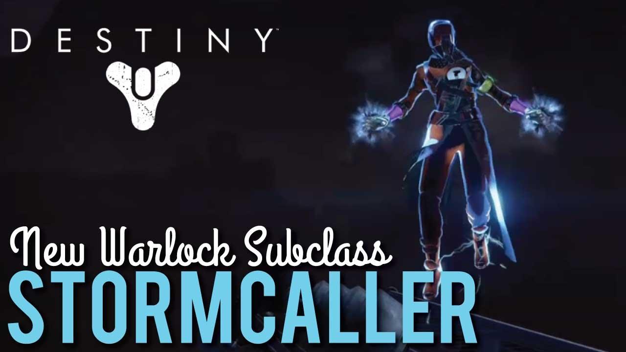 New warlock subclass stormcaller destiny the taken king youtube - Warlock stormcaller ...