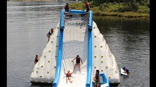 FunAir Inflatable Glacier Slide - Awesome Lake Toy Fun!