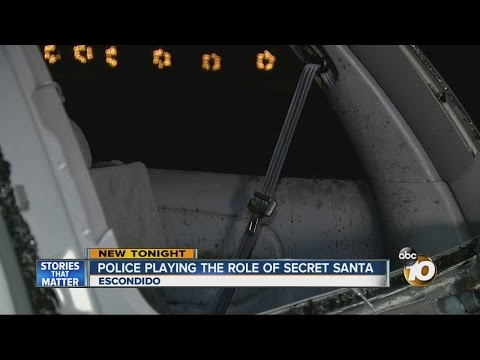 Police Playing The Role Of Secret Santa