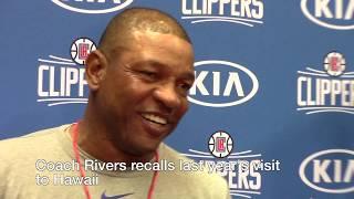 LA Clippers begin practice in Honolulu