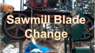 Changing Timberwolf Portable Band Saw Blade