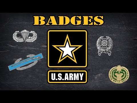 Explaining US Army Badges