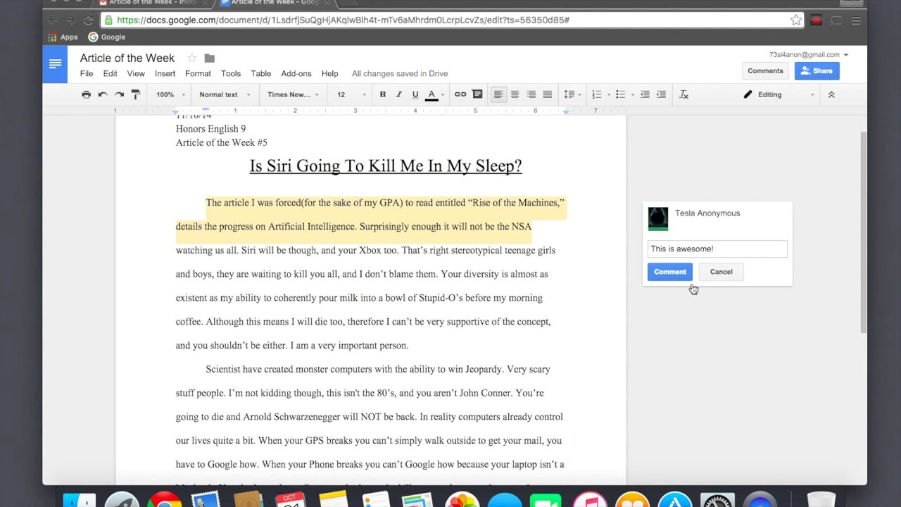How to annotate using google docs youtube how to annotate using google docs ccuart Image collections