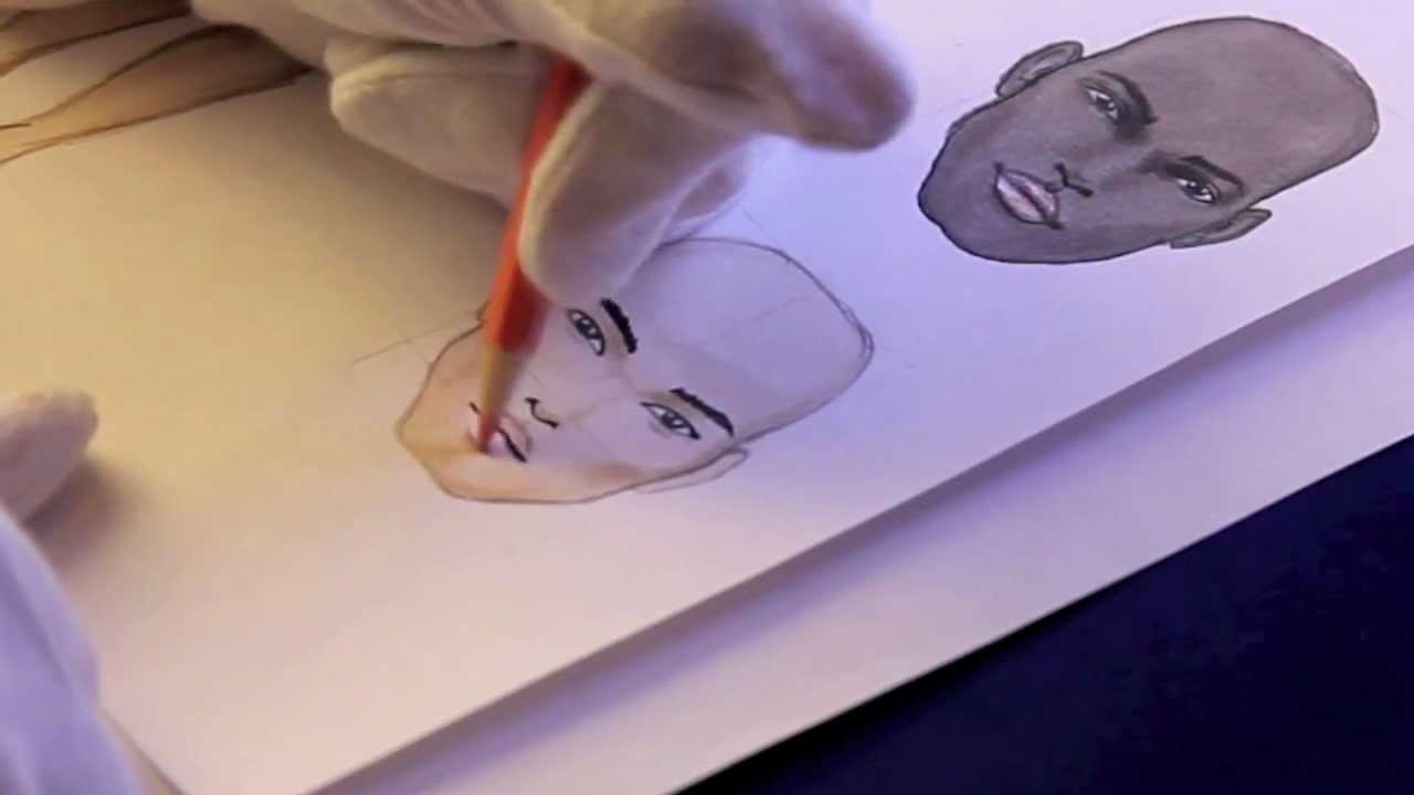 It is a graphic of Trust Asian Face Drawing