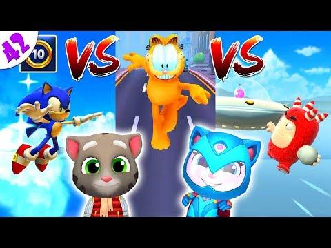 ГОВОРЯЩИЙ ТОМ ПОГОНЯ ГЕРОЕВ VS Sonic Dash супер соревнование против Гарфилда ч. 42