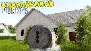RENOVATING UNCLE'S MASSIVE UNDERGROUND BUNKER! Doomsday Prepping - House Flipper Gameplay
