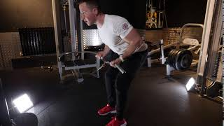 Low Cable Underhand Bar Bent over Row