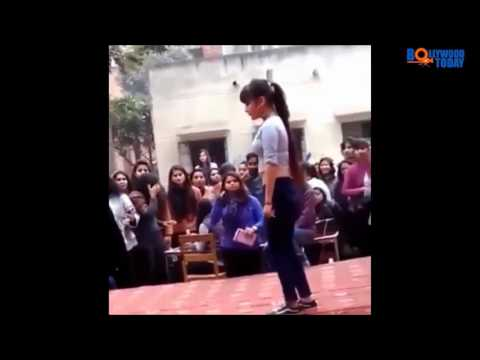 Hot College Girl Dancing On - DJ Wale Babu Mera Gaana Chala Do!