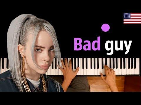 Billie Eilish - Bad Guy ● караоке | PIANO_KARAOKE ● ᴴᴰ + НОТЫ & MIDI