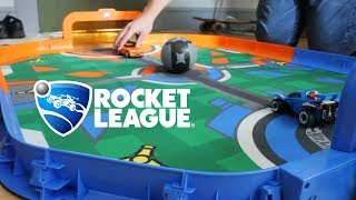 We challenged strangers to 1v1 in real life Rocket League (hot wheels)