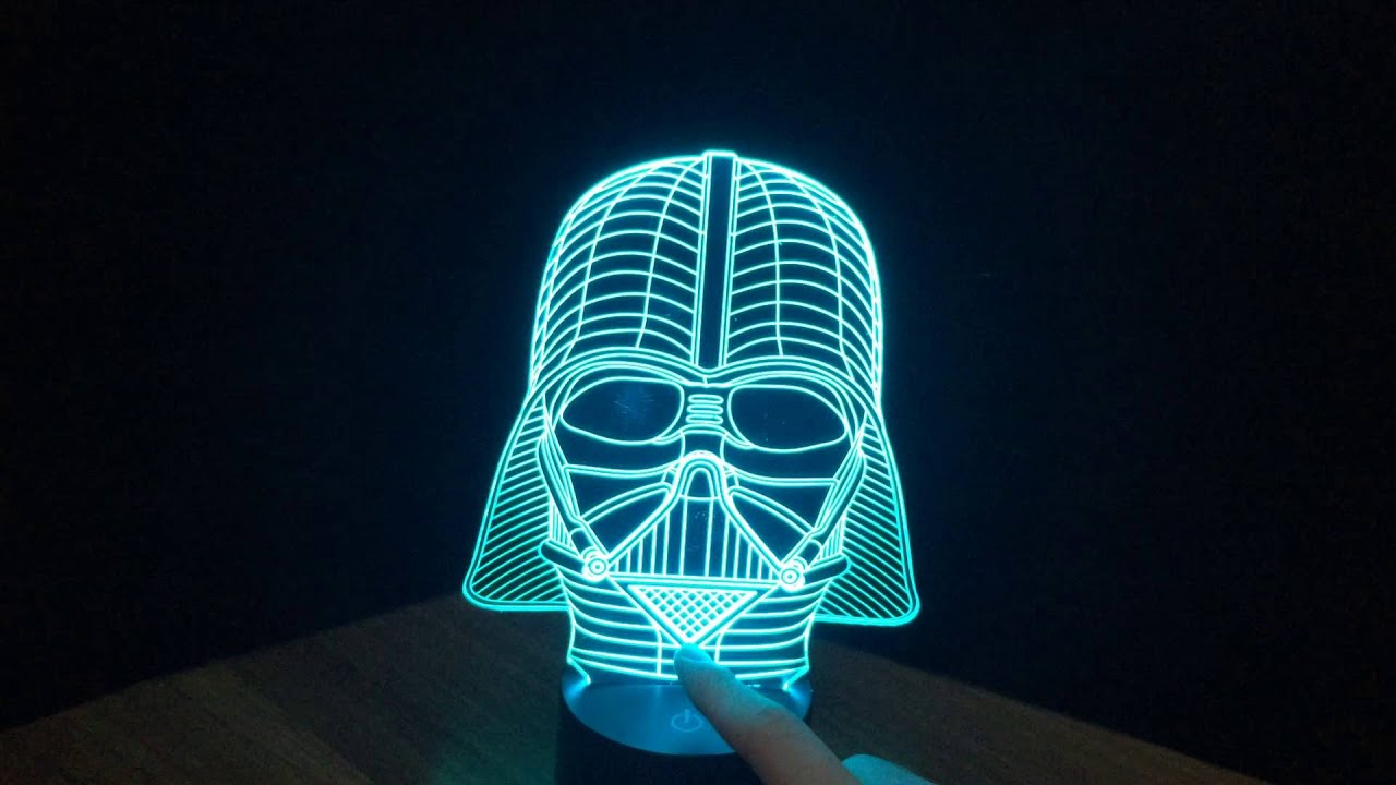 Darth Vader 3d Illusion Lamp Youtube