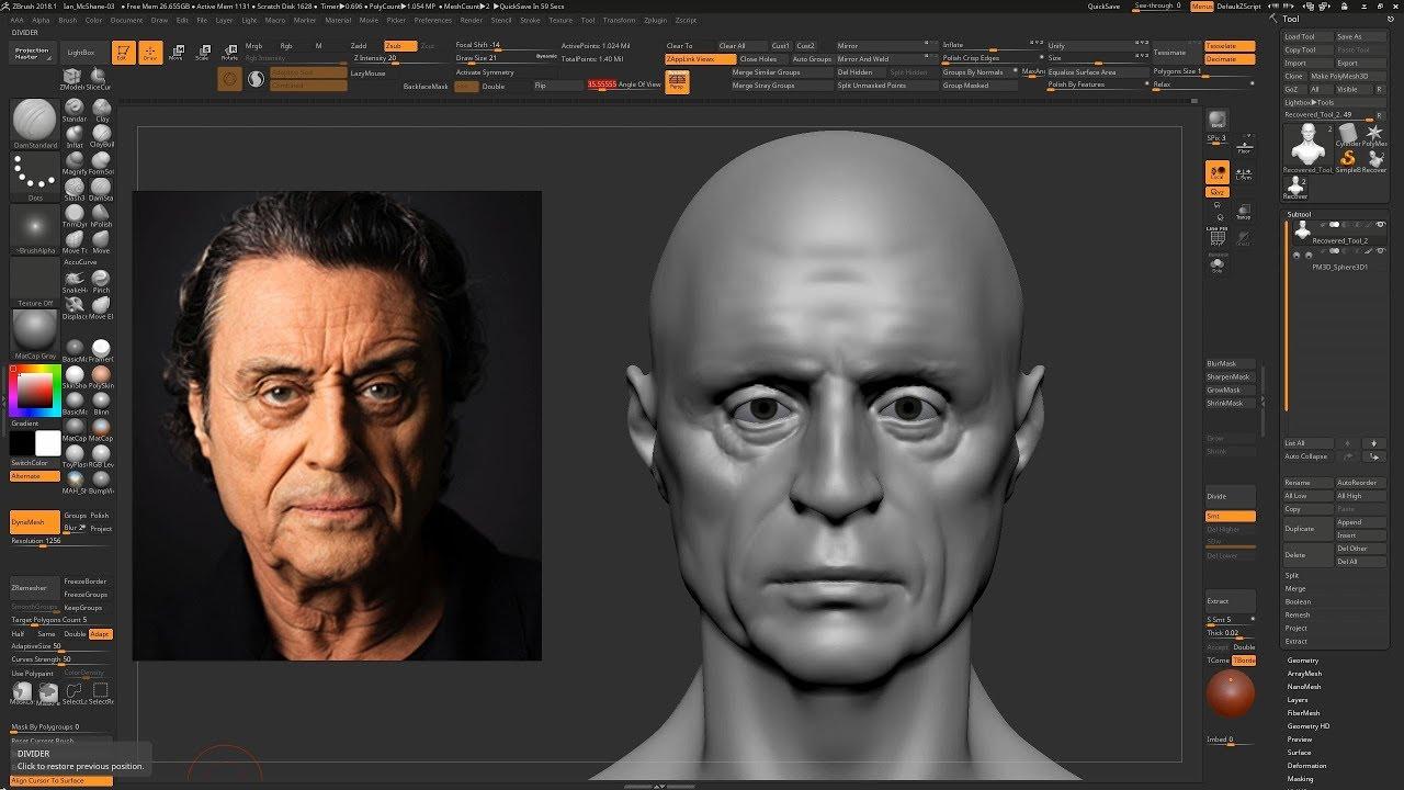 Sculpting Ian McShane Part 1 by 3DworlD2
