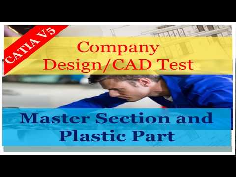 Master section in Plastic Part Design| Company's CAD Test-2| Automotive Design Training | ISOPARA