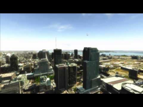 Highly detailed 3D model of Montreal city in Unity 5