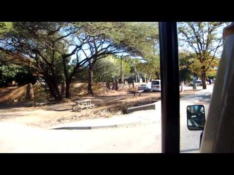 Driving through the city of Kasane, Botswana.
